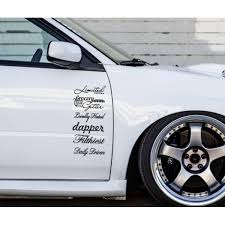 Buy 2x Hooligan Jdm Japan Stance Low Lifestyle Funny Hoon Car Vinyl Sticker Decal