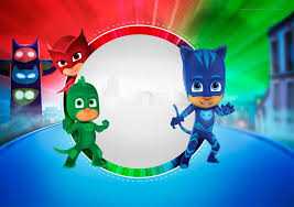 Pj Masks Free Printable Invitations Heroes En Pijamas Crear