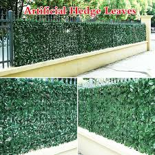 Greening Artificial Hedge Leaves Faux Ivy Leaf Privacy Fence Screen Garden Decor Backyards Decoration Artificial Grass Wish