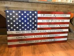 rustic american flag distressed wood