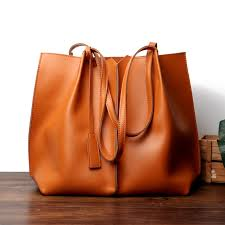 tan soft leather tote large real