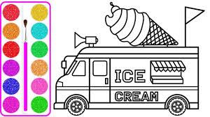 Dạy bé vẽ và tô màu xe tải chở kem  Dạy bé vẽ   Dạy bé tô màu
