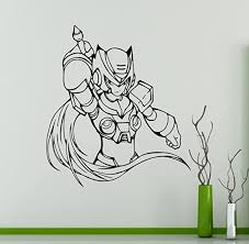 Amazon Com Mega Man Knight Wall Decal Game Superhero Wall Vinyl Sticker Retro Game Home Interior Children Kids Room Wall Decor 11 Mgm Home Improvement