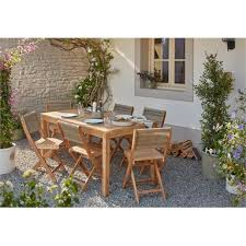 batahla wooden 6 seater dining set