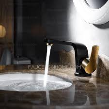 matte black gold bathroom sink faucet