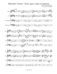 Deborah s Theme Once upon a time in America Sheet music for Violin ...