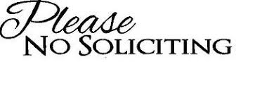 Front Door Window Script Welcome No Soliciting Sign Vinyl Decal Sticker