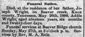 Obituary for Addie Wright - Newspapers.com