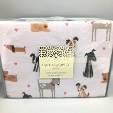 love dogs queen flannel sheet set