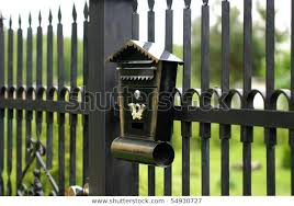 Old Mailbox Fixed Metal Fence Stock Photo Edit Now 54930727