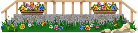 Png Royalty Free Download With Grass And Flowers Png Flowers With Fence Clipart Transparent Png Full Size Clipart 595233 Pinclipart