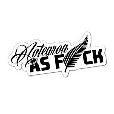 Aotearoa As Fck Sticker Decal Nz Kiwi Maori Tiki Fern New Zealand 4x4 Car Ebay