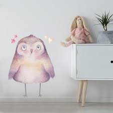 Watercolor Owl Wall Decal Labeldaddy