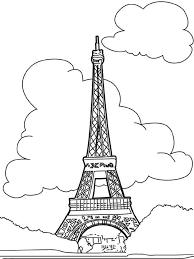 Kids N Fun Kleurplaat Wereld Wonderen Eiffeltoren Parijs
