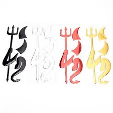 2sets 3d Chrome Devil Decal Car Or Truck Custom Demon Stickers Horns Buy At A Low Prices On Joom E Commerce Platform