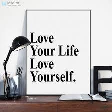 hitam putih mini s kehidupan cinta quotes tipografi a art