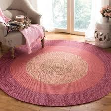 reversible pink braided rug