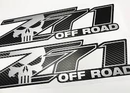 Z71 Off Road Punisher Chevy Decals Stickers Truck Silverado Etsy