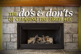 cleaning the fireplace