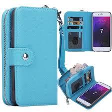 brg iphone 7 plus zipper wallet case