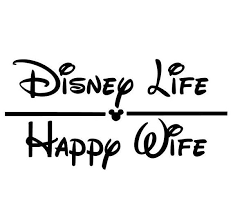 Disney Life Happy Wife Window Vinyl Decal Car Decal Yeti Cup Decal Disney Decal Water Bottle Decal Wife Decal Car Decals Vinyl Disney Decals Decals For Yeti Cups