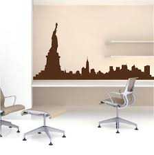 New York Skyline Wall Decal Skylines Wallpaper Decal Stickers Large City Skyline Murals Trendy Wall Designs