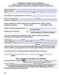 free motor vehicle power of attorney