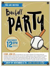 Una Plantilla De La Invitacion Del Partido De Beisbol Tematica