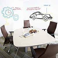 Amazon Com Dry Erase Wall Decal Anumit Self Adhesive Wall Sticker Wall Paper Whiteboard Wall Decals For School Office Home 17 7 By 78 7 Inches With 1 Marker Pen White Office Products