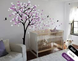 Tree Wall Decal Modern Baby Nursery Wall Decals Baby Decal Etsy