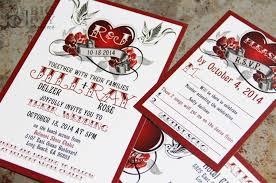 rockabilly wedding invitation set with