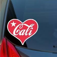 Cali Heart Vinyl Sticker Decal California Love Car Truck Suv Board Window Ebay