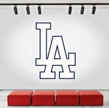 Los Angeles Dodgers Logo Wall Decal Mlb Sports Baseball Home La Decor Cg172 Ebay