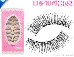 xh natural thick long false eyelashes