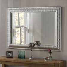 wall mirror with chrome pinstripes 119