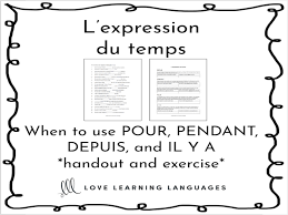 l expression du temps when to use