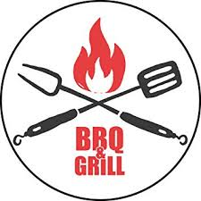 Amazon Com Cool Red Black Bbq Grill Master Cook Cartoon Icon Vinyl Sticker 2 Tall Bbq Grill Utensils Icon Automotive