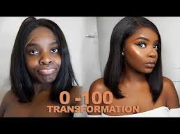 0 100 makeup transformation hair