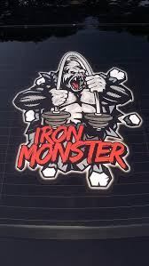 Iron Monster Car Decal Iron Monster