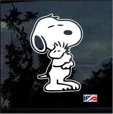 Snoopy And Woodstock Window Decal Sticker Window Decals Snoopy And Woodstock Snoopy