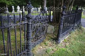 Creepy Graveyard Fence And Gate Stock Photo Download Image Now Istock
