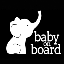 15 12cm Baby On Board Baby Elephant Vinyl Decal Baby Car Decal Cute And Interesting Fashion Sticker Decals Car Decor Car Stickers Aliexpress