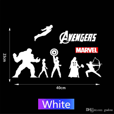 2020 23 40cm The Avengers Marvel Hero Reflective Decorative Car Decals Iron Man Hulk Thor Us Captain Car Stickers Black White From Gudou 1 51 Dhgate Com