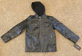 black rivet faux leather jacket mens