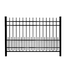 Black Metal Fence Panels Metal Fencing The Home Depot