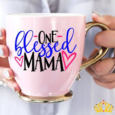 One Blessed Mama Decal Mom Decal For Yeti Decal For Women Cup Decal For Women Decals For Moms Yeti Decal For Mom Mom Li Cup Decal Yeti Decals Vinyl Decals