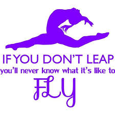 Gymnastics Decal If You Don T Leap You Ll Never Know What It S Like To Fly Gymnast Wall Decor Bedroom Sticker 22 X20 Walmart Com Walmart Com
