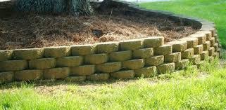 large retaining wall block cement stone