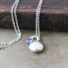 small silver locket necklace round