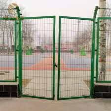China Galvanized Steel Wire Mesh With Powder Coated Finish Garden Fence Door China Metal Fence Gate Fence Gate
